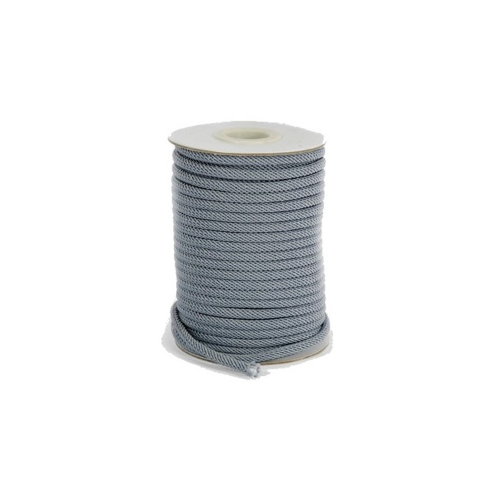 Cordon 4mm gris, +/- 2m