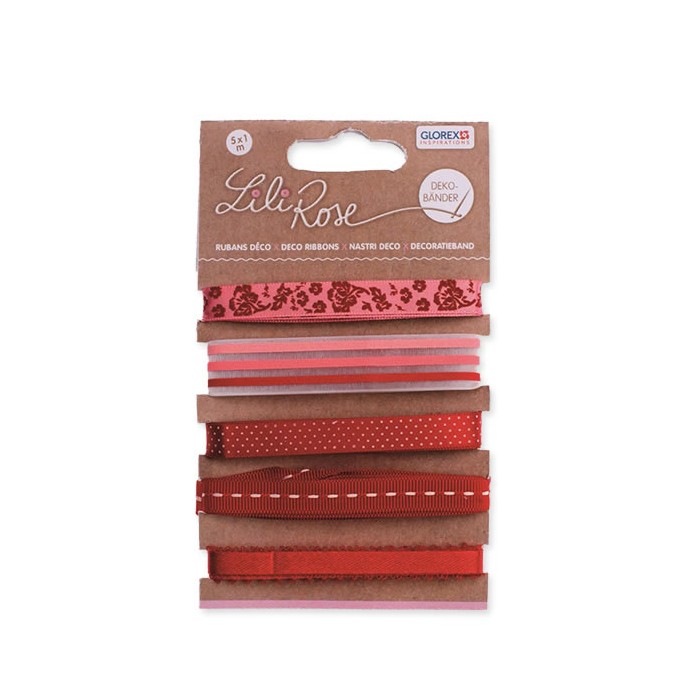 Ribbons assortment red