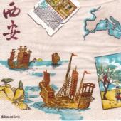 Serviette Route de la soie, 1 paket