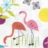 Serviette Flamingo, 1 paket