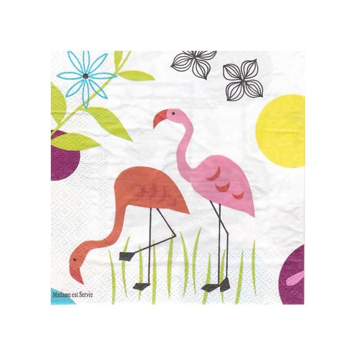 Serviette Flamingo, 1 paquet