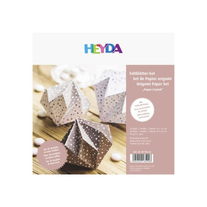 Origami Paper Crystal 40sheets rosa gold