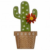 Wooden self-adhesive Cactus 2x5cm, 4 pcs