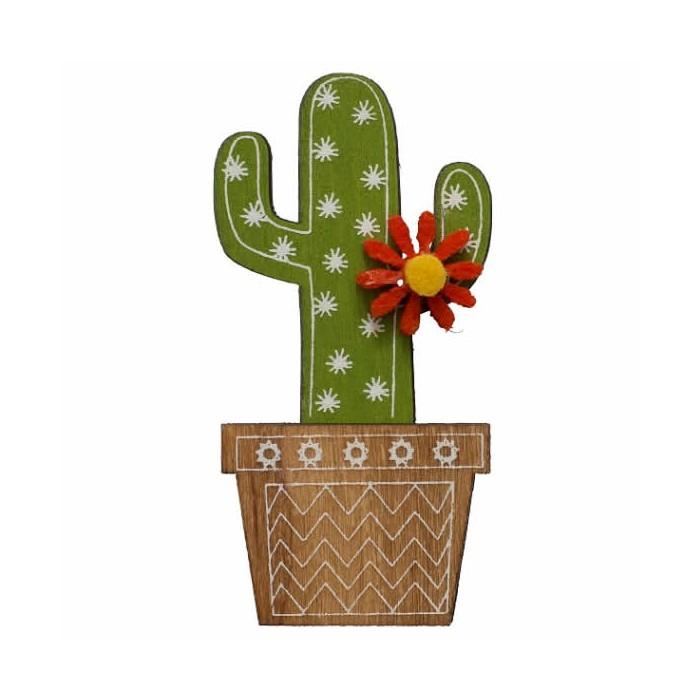 Cactus autocollants, 2x5cm, 4 pcs