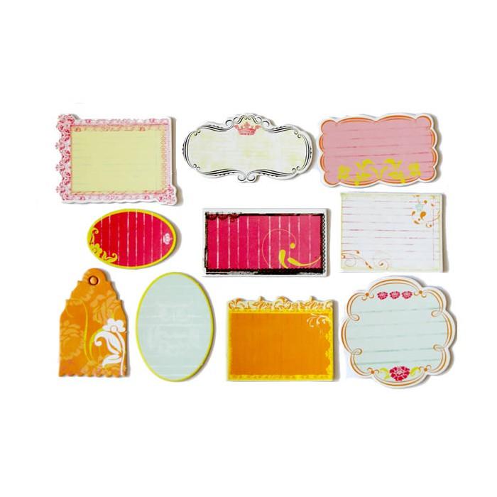 25 Etiquettes en carton épais, formes assorties, 8cm