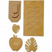 Wooden embellishments assorted