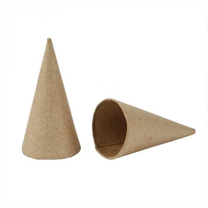 Cône en carton, Ø4cm/H8cm, 10 pcs