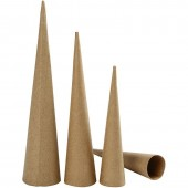 Cônes en carton, H20-25-30cm, 3 pcs