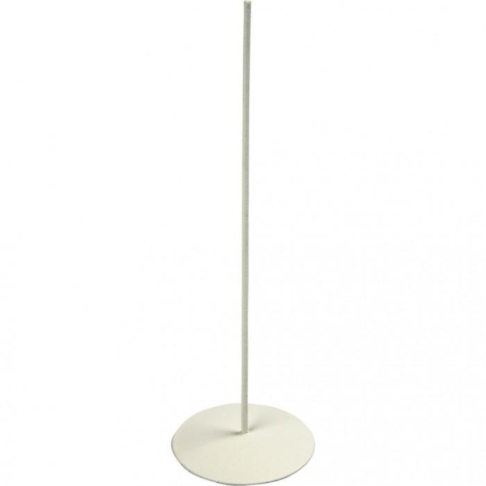 Metallic base, white Ø5cm/ H15