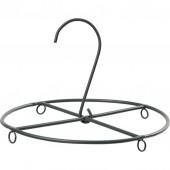 Deco hanger, circle black, Ø12.5cm
