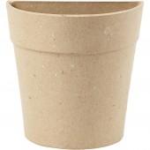 Cardboard round Half-pot, H15cm, 1 pce