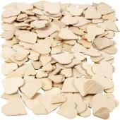 Coeurs en bois, 18-30mm, 60 pcs
