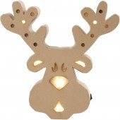 Cardboard Deer with lights, 27cm