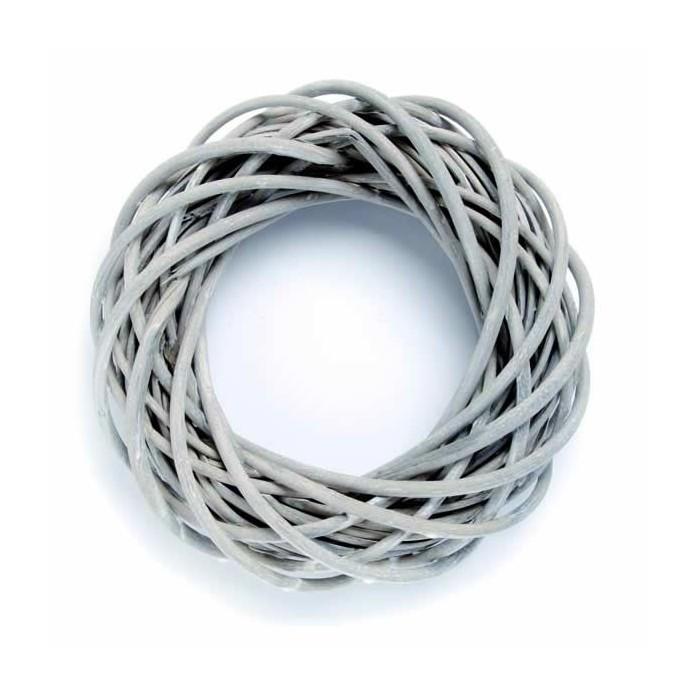 Wicker wreath, grey Ø25cm