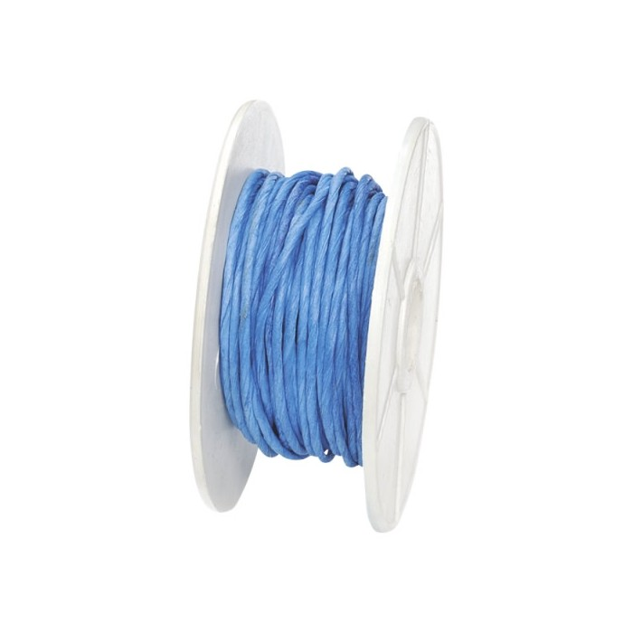 Paper wrap with wire, 1mm/10m, blue