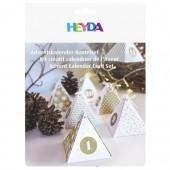 Heyda Calender advent set, gold, 24 pcs