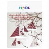 Heyda - Calendrier de l'Avent, rouge, 24 pièces