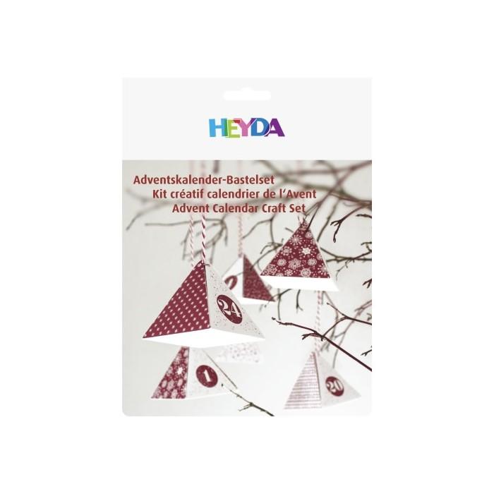 Heyda Calender advent set, red, 24 pcs