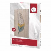 String Art kit - Nagelbild Feder