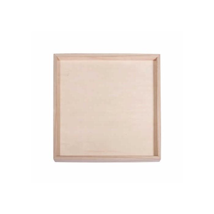 Cadre en bois, 26x26x1.5cm