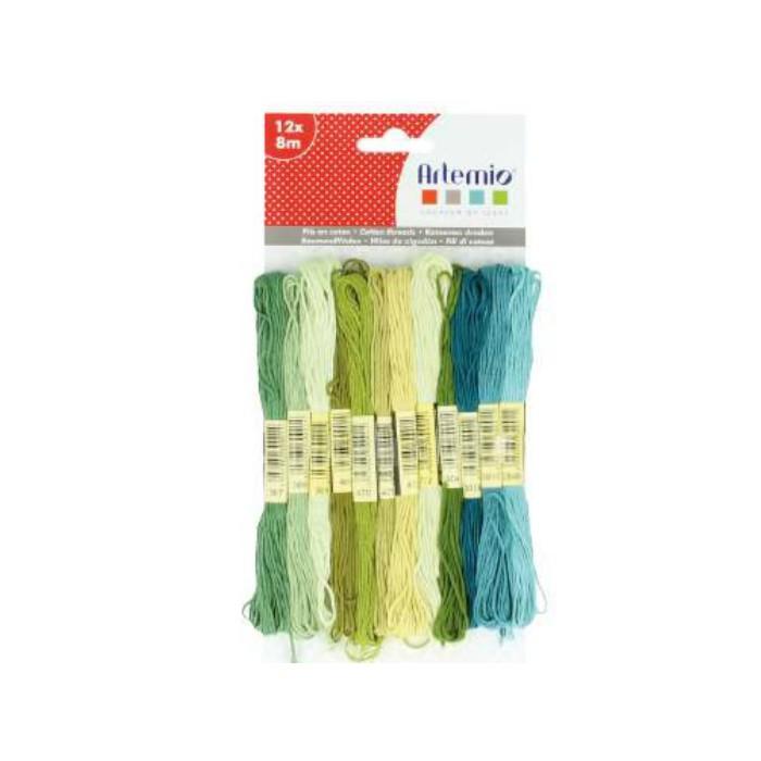 Artemio - Cotton thread, 12x8m, green