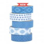 Artemio Masking Tape Blue Ethnic