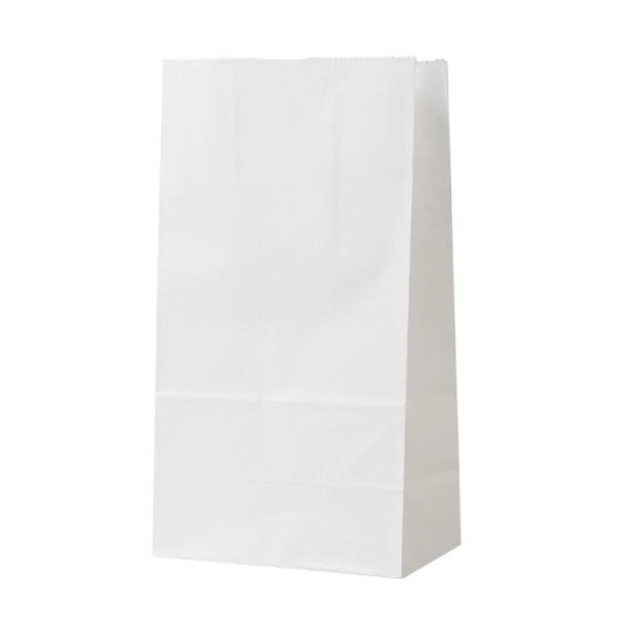 Sachet en papier, blanc, 6 pcs