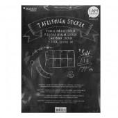 Chalkboard foil, adhesive 23x22cm, 5 pcs