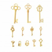 Key gold, 16 à 63 mm, 12 pcs