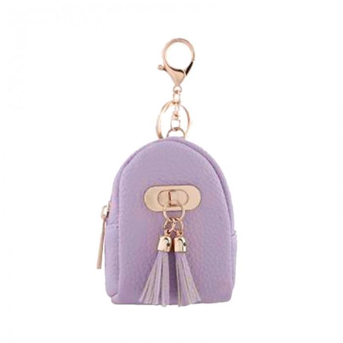 Porte-monnaie forme sac-à-dos, lilas, 92x72mm