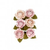 Fleurs en papier Secret Garden  30mm, 6 pcs