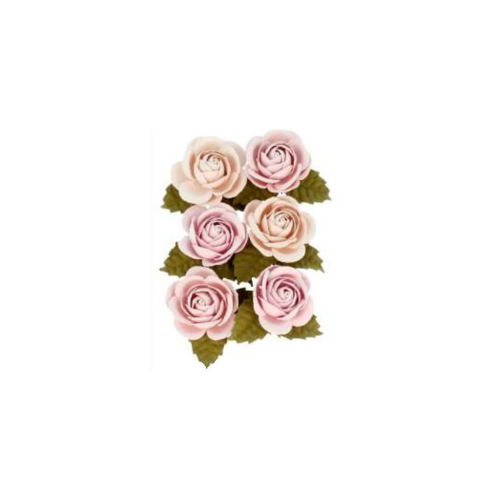 Paper flowers Secret Garden , 30mm, 6 pcs