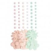Plastik-Halbperlen unde Papierblumen, Secret Garden