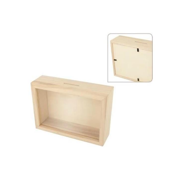 Money wooden box 12x17x5cm