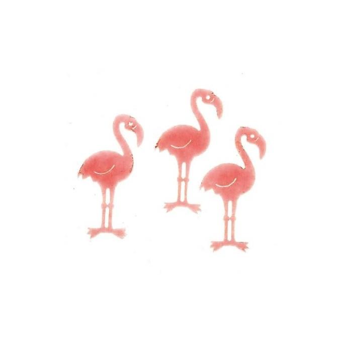 Felt flamingo, 12 pcs