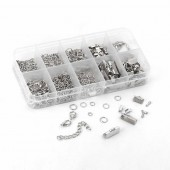 Finding-kit, silver-coloured,  +/- 525 pcs