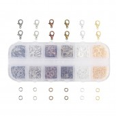Assorted Clasps and rings, +/-1080 pcs