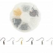 Hook Earrings, jewelry findings, +/- 120 pcs