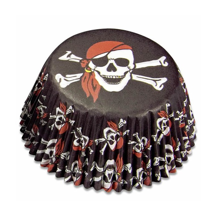 Paper baking cups maxi, pirates