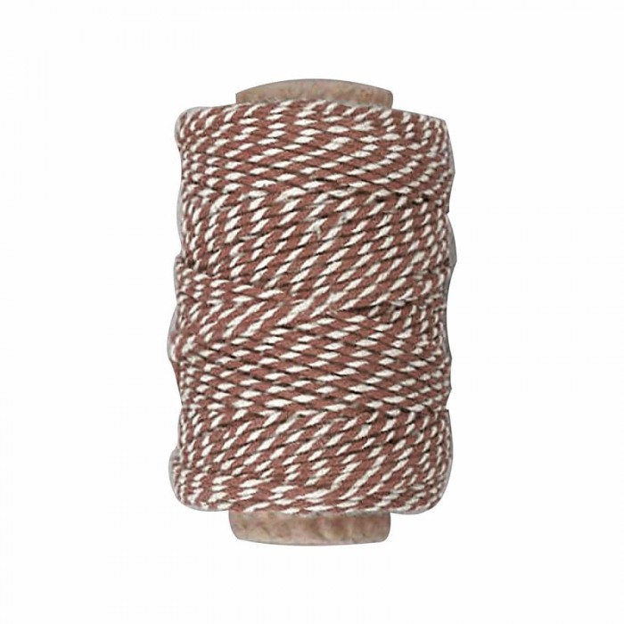 Baker's twine, brown-white, 50m