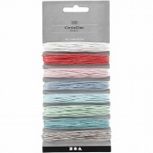 Assorted cotton laces, 1mm