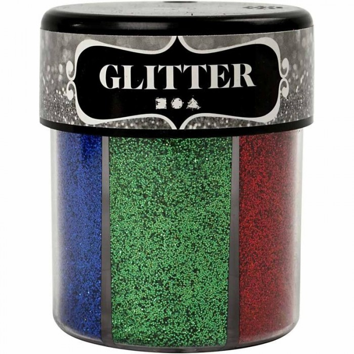 Fine Glitter - 6 assorte colors