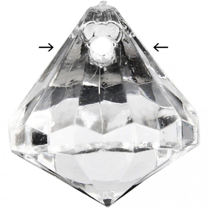 Acrylic facet beads, 17x16mm, transparent, 100 pcs