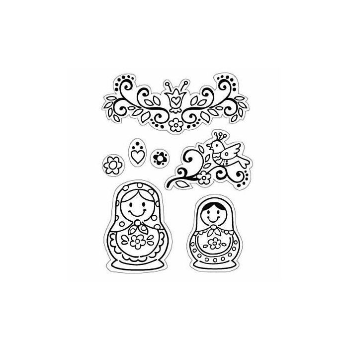 Clear stamps, Russia