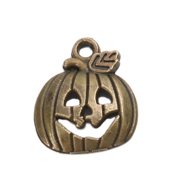 Metal pendant Halloween, 18x16mm, 5 pcs