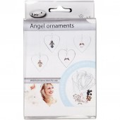 Angel Ornaments, H: 3.5 cm, antique silver, silver-plated, 8pcs