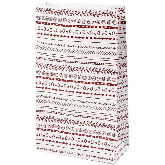 Paper bag, H: 21 cm, size 6x12 cm, doodles, 8pcs