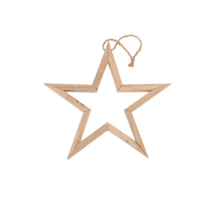 3D Wooden star, 29x29x2.5cm