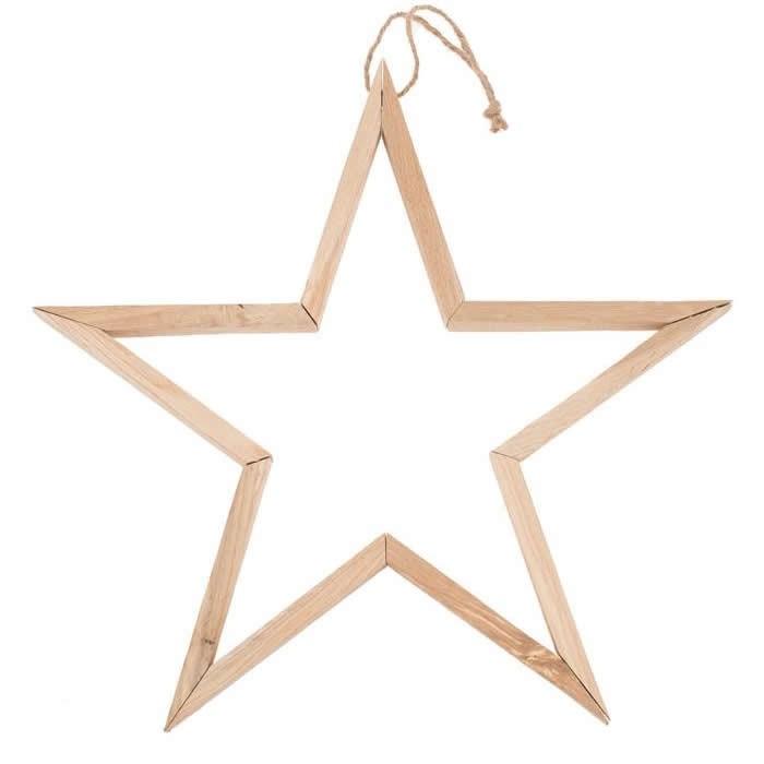 3D Wooden star, 39x39x2.5cm