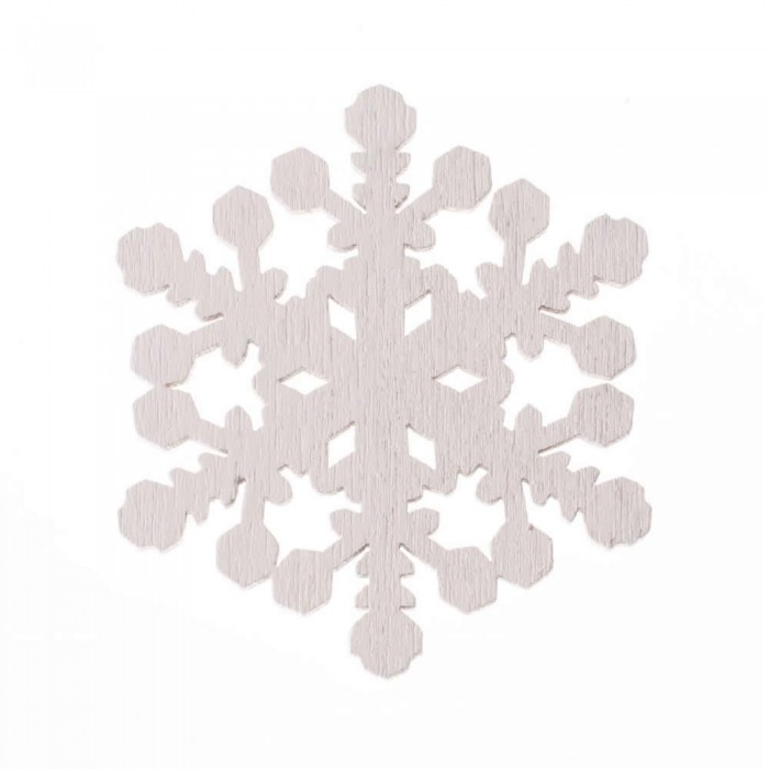 Wooden Snowflakes,4.5x4cm, 8 pcs